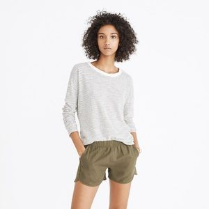 Madewell Pull-On Shorts in Birch Leaf